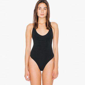American Apparel Black Thong Bodysuit